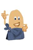 Happy Potato Wrapped in A Towel Royalty Free Stock Image