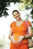 Happy pregnancy Stock Images