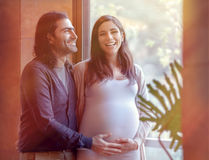 Happy pregnancy time Royalty Free Stock Photo