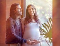Happy pregnancy time Royalty Free Stock Photo