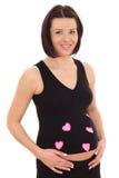 Happy pregnant Royalty Free Stock Image