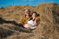 Happy pregnant couple Royalty Free Stock Photos
