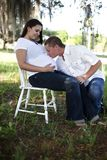 Happy pregnant couple Royalty Free Stock Images