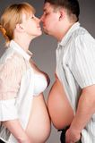 Happy pregnant couple Stock Photography