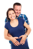 Happy pregnant couple Royalty Free Stock Photos