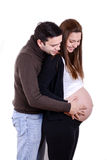 Happy pregnant couple portrait Royalty Free Stock Photography