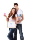 Happy Pregnant Family Stock Photo