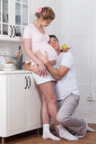 Happy pregnant family Royalty Free Stock Photos