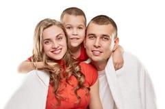 Happy pregnant family Stock Photography