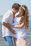 Happy pregnant girl and her loving husband Royalty Free Stock Photo