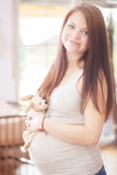 Happy Pregnant Girl Royalty Free Stock Photography