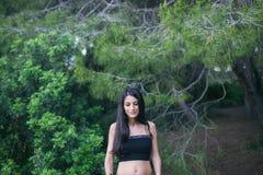 Happy pregnant pregnant woman, smiling. Spain stock photos