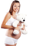 Happy pregnant woman Stock Photos