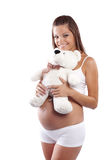 Happy pregnant woman Stock Photography