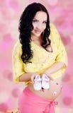 Happy Pregnant woman Stock Photo