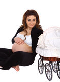 Happy Pregnant woman Royalty Free Stock Image