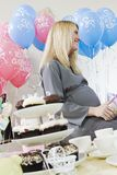 Happy Pregnant Woman At A Baby Shower Royalty Free Stock Photos