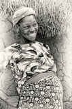 Happy pregnant woman from Ghana Royalty Free Stock Images