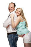 Happy pregnant woman with her husband Stock Image