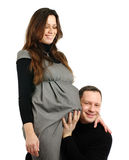 Happy pregnant woman with husband Stock Photos