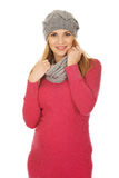 Happy pregnant woman in outerwear Stock Photography