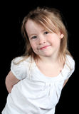 Happy preschool girl Royalty Free Stock Image