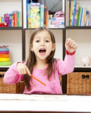 Happy preschool girl Stock Image