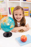 Happy preschooler eager to go to school Stock Photos