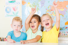 Happy preschoolers Royalty Free Stock Photography
