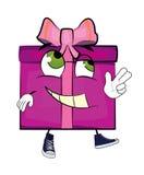 Happy present box cartoon Royalty Free Stock Photo