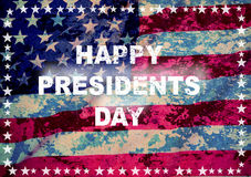 Happy president day greeting card royalty free stock images