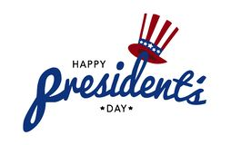 Happy President`s day design background with uncle Sam hat royalty free illustration