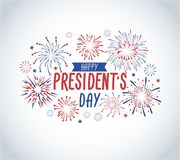 Happy President`s day greeting card with fireworks. USA national holiday greetind card. Happy President`s day vector illustraion. Design concept vector illustration