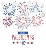 Happy President`s day greeting card with fireworks. USA national holiday greetind card. Happy President`s day vector illustraion stock illustration
