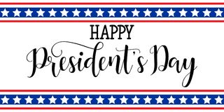 President`s Day in USA Background. graphic design for decoration posters, cards, gift cards. Happy President`s Day hand lettering, american holiday design Royalty Free Stock Photos
