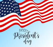 President`s Day in USA Background. graphic design for decoration posters, cards, gift cards. Happy President`s Day hand lettering, american holiday design Stock Photography
