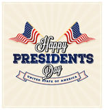 Happy Presidents Day Background Stock Image