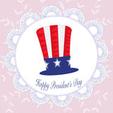 Happy Presidents day badges in Zentangle background Royalty Free Stock Images