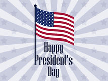 Happy Presidents Day. Banner with american flag and text. Vector Stock Images