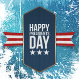 Happy Presidents Day big realistic blue Banner Stock Photos