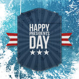 Happy Presidents Day big realistic Card Template Royalty Free Stock Photo
