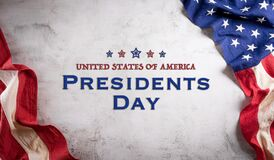 Free Happy Presidents Day Concept With Flag Of The United States On Old Stone Background Royalty Free Stock Photo - 208953955