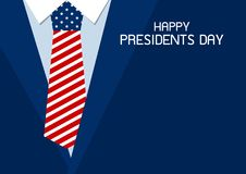 Happy presidents day design of USA necktie vector illustration. Happy presidents day design of USA necktie with copy spacevector illustration vector illustration