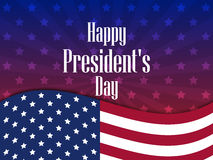 Happy Presidents Day. Festive banner with american flag and text. Vector. Illustration Royalty Free Stock Photo