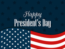 Happy Presidents Day. Festive banner with american flag and text. Vector. Illustration Stock Photos