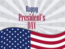 Happy Presidents Day. Festive banner with american flag and text. Vector. Illustration Royalty Free Stock Photography