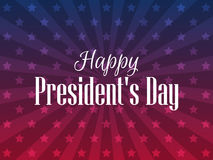 Happy Presidents Day. Festive banner with american flag and text. Vector. Illustration Royalty Free Stock Images