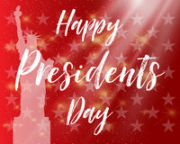 Happy Presidents Day. Festive banner with american flag and text. Vector illustration. Vector illustration Happy Presidents Day. Festive banner with american Royalty Free Stock Image