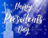 Happy Presidents Day. Festive banner with american flag and text. Vector illustration. Vector illustration Happy Presidents Day. Festive banner with american Royalty Free Stock Photography