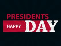 Happy Presidents Day. Festive illustration for greeting card and poster. Typography design. Vector Stock Photography